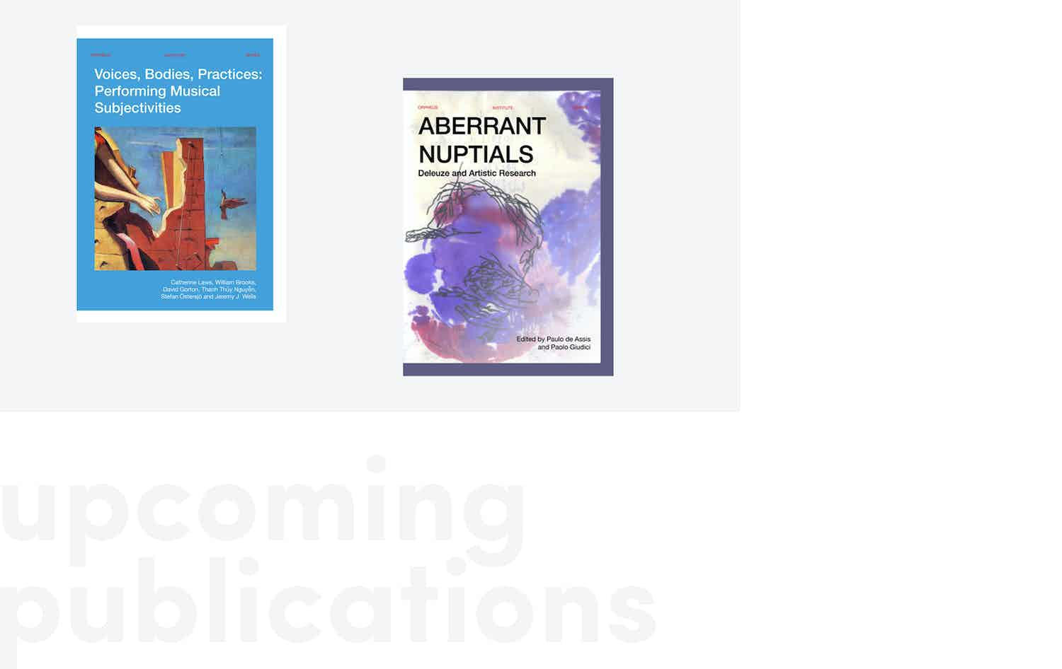 Upcoming Publications Fall 2019