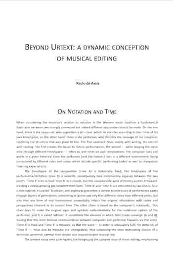 Beyond Urtext