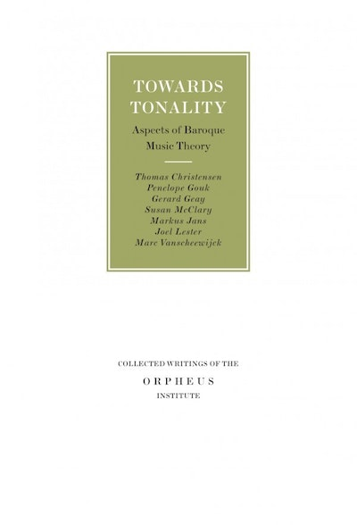 Towards Tonality